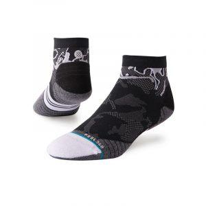 Stance Shiny Camo Tab Black / Grey Men's Running Sock Side / Back View