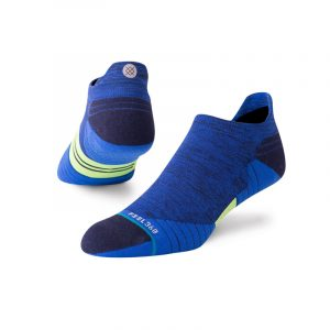 Stance Shiny Camo Tab Blue Mens Running Sock Side/ Back View