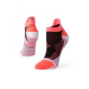 Stance Shiny Camo Tab Pink/Black Women's Running Sock Side and Back View