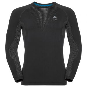 Odlo Mens SUW Long Sleeve Top Black Front - View