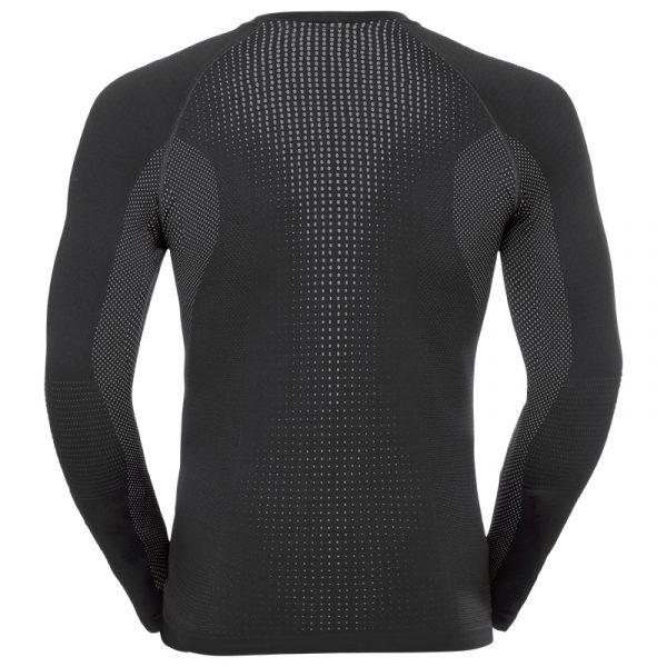 Odlo Mens SUW Long Sleeve Top Black Back - View