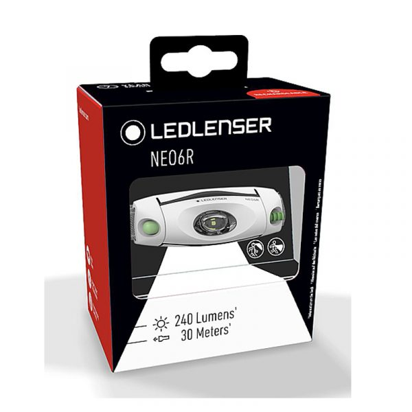 Ledlenser NEO4R Head Torch Green Boxed