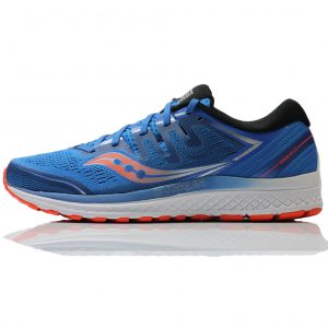 Saucony Guide ISO 2 Blue Orange Men's Running Shoe Side View