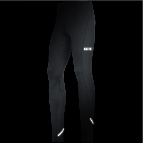 Gore Wear R3 Men's Running Tight Front View with Flash