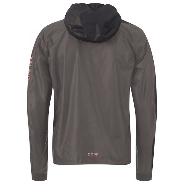 Gore Wear Gore-Tex Shakedry Men's Hooded Running Jacket Back view