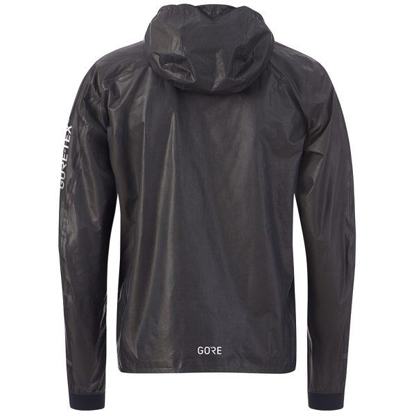 Gore Wear Men's Gore-Tex Shakedry Hooded Running Jacket Back View