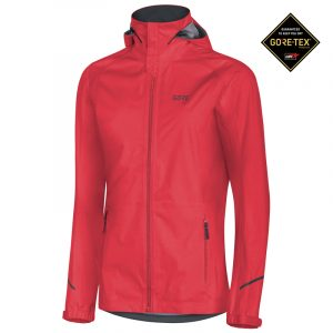 ore Wear Gore-Tex Active Women's Hooded Running Jacket Front view with Gore-Tex Logo