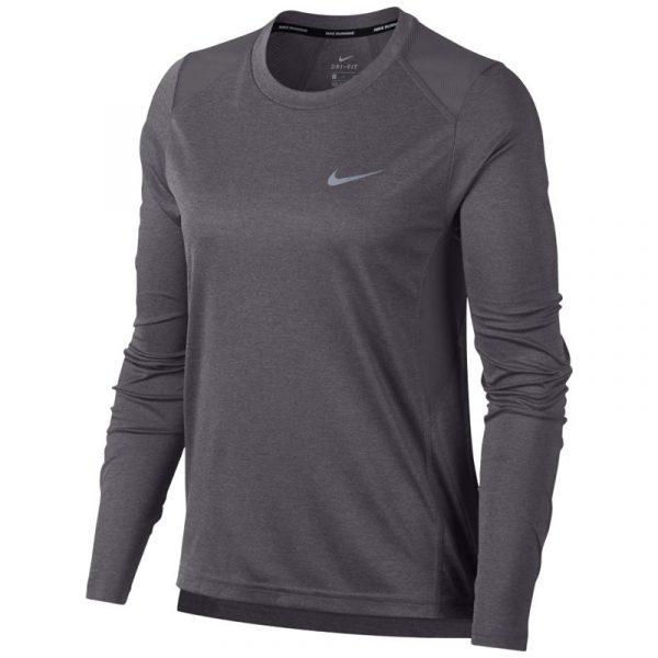 Nike Miler Long Sleeve Women's Running Tee Front View