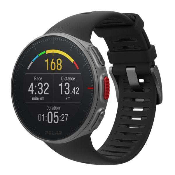 Polar Vantage M GPS Running Watch Black Front