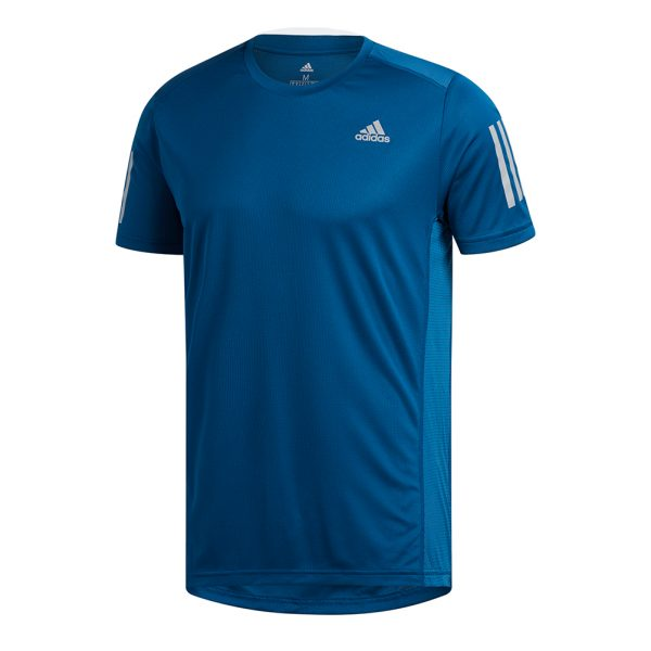 didas Own The Run Short Sleeve Men's Running Tee Front View