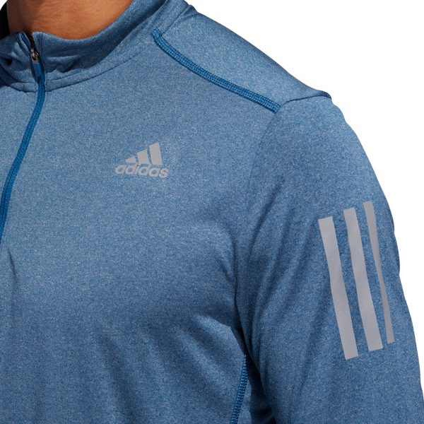 adidas Response Halfzip Long Sleeve Men's Running Top Close Up