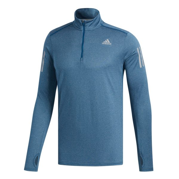 adidas Response Halfzip Long Sleeve Men's Running Top Front View