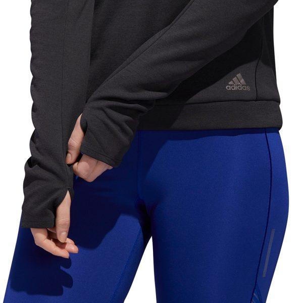 adidas Supernova Run Cru Women's Running Top Close up on model