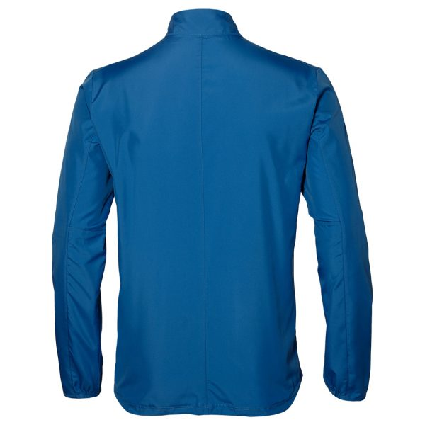 Asics Silver Men's Running Jacket Front View