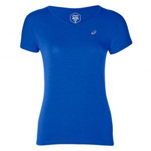 Asics V-Neck Short Sleeve Women's Running Tee Front View