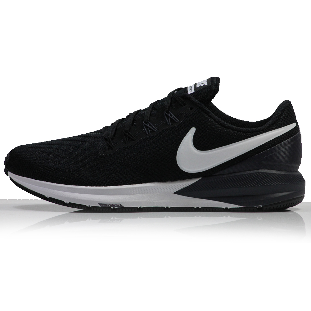 e72833738b158 Nike Air Zoom Structure 22 Women s Running Shoe black whits side