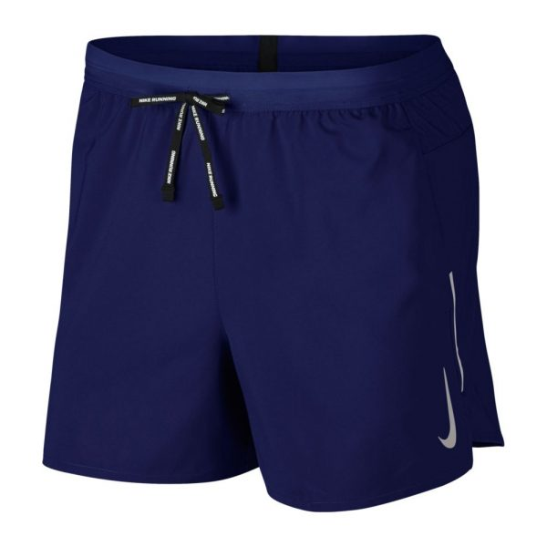 Nike Flex 5 inch Men's Running Short Blue Void Front View