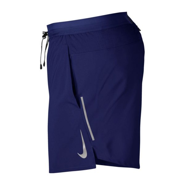 Nike Flex 5 inch Men's Running Short Blue Void Side View