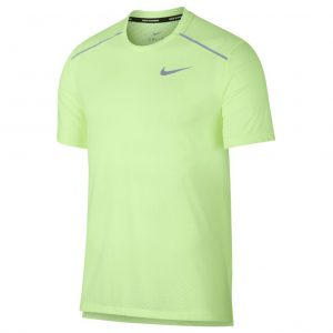 Nike Rise 356 Men's Running Short Sleeve Tee - Barely Volt/Aviator Grey/Reflective Silver Front