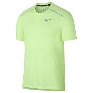 buy popular 7e3db 78b8a Nike Rise 356 Men s Running Short Sleeve Tee - Barely Volt Aviator  Grey Reflective