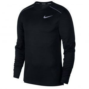 0ed2395b42 Nike Miler Long Sleeve Men s Running Tee – Black Black Reflective Silver