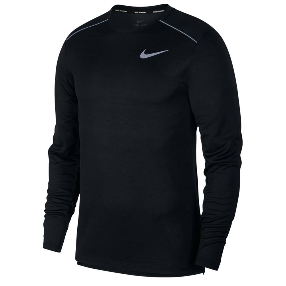 900522d0bd86 Nike Miler Long Sleeve Men s Running Tee - Black Black Reflective ...