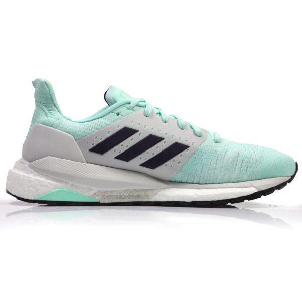 adidas Solar Glide ST Women's Running Shoe - Clear Mint/Legend Purple Back View