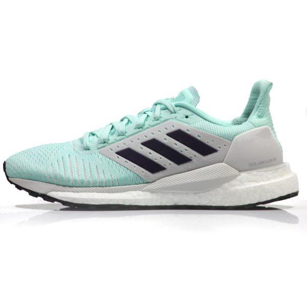 adidas Solar Glide ST Women's Running Shoe - Clear Mint/Legend Purple Side View