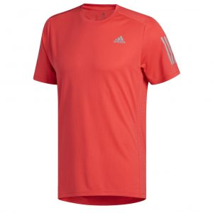 edf3b11d72a adidas Own The Run Short Sleeve Men s Running Tee – Shock Red