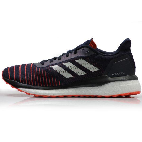 adidas Solar Drive Men's Running Shoe - Legend Ink/Raw White/True Orange Side View