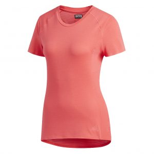 adidas supernova short sleeve womens tee red front