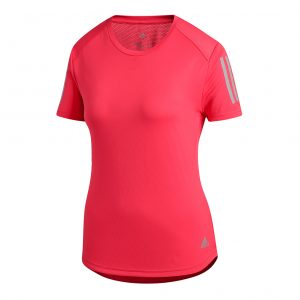 adidas own the run womens running tee red front