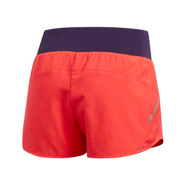 Adidas Run It Women's Running Short - Shock Red/Legend Purple Back View