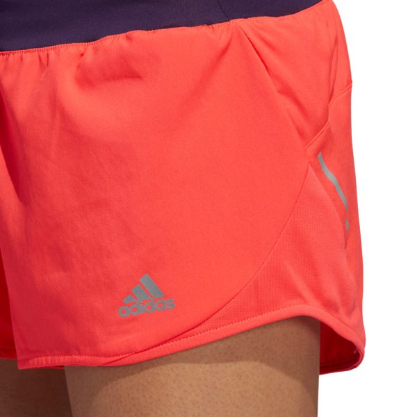 Adidas Run It Women's Running Short - Shock Red/Legend Purple Detail View