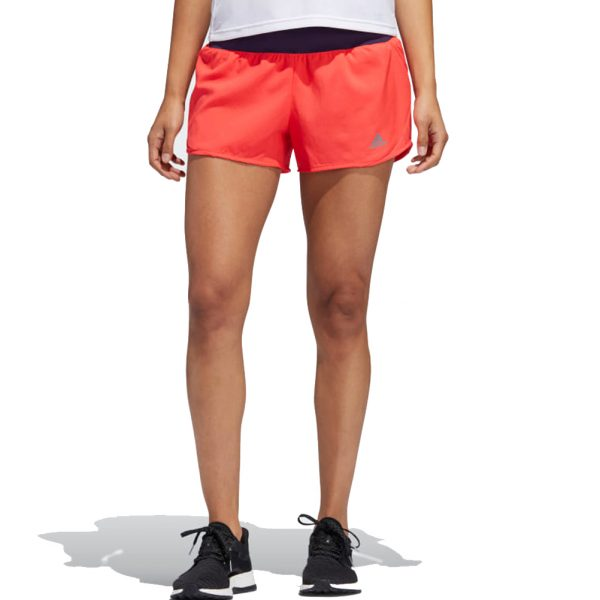 Adidas Run It Women's Running Short - Shock Red/Legend Purple Model View