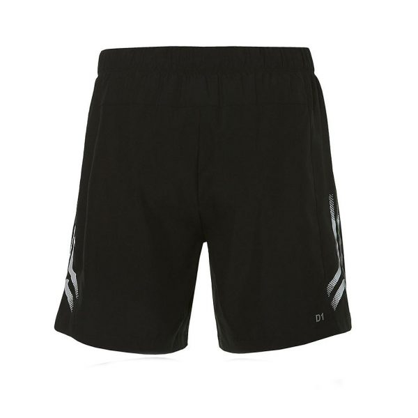 Asics Icon 7 Inch Men's Running Short - Performance Black/Mid Grey Back View