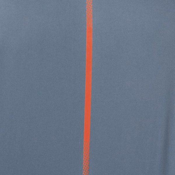 Asics Icon Short Sleeve Men's Running Top - Steel Blue/Nova Orange Detailed View