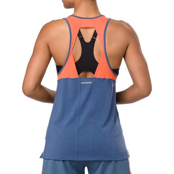 Asics Loose Strappy Women's Running Tank - Grand Shark Model Back View