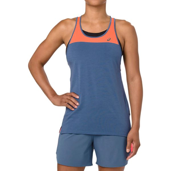 Asics Loose Strappy Women's Running Tank - Grand Shark Model Front View