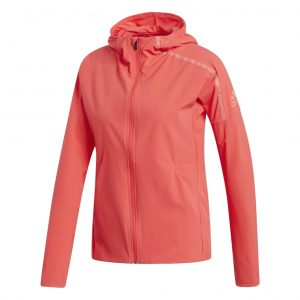 adidas Z.N.E Women's Running Jacket red front