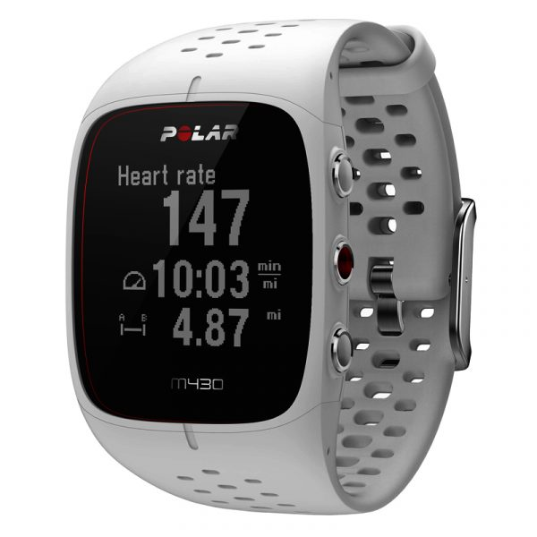 Polar M430 GPS Running Watch white front
