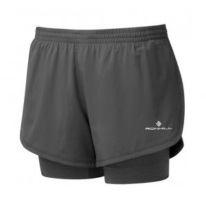 Ronhill Stride Twin Women's Running Short charcoal front