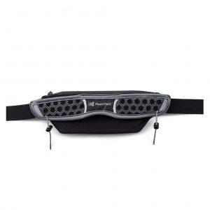FuelBelt Stretch Race Belt - Black/Magnet Grey