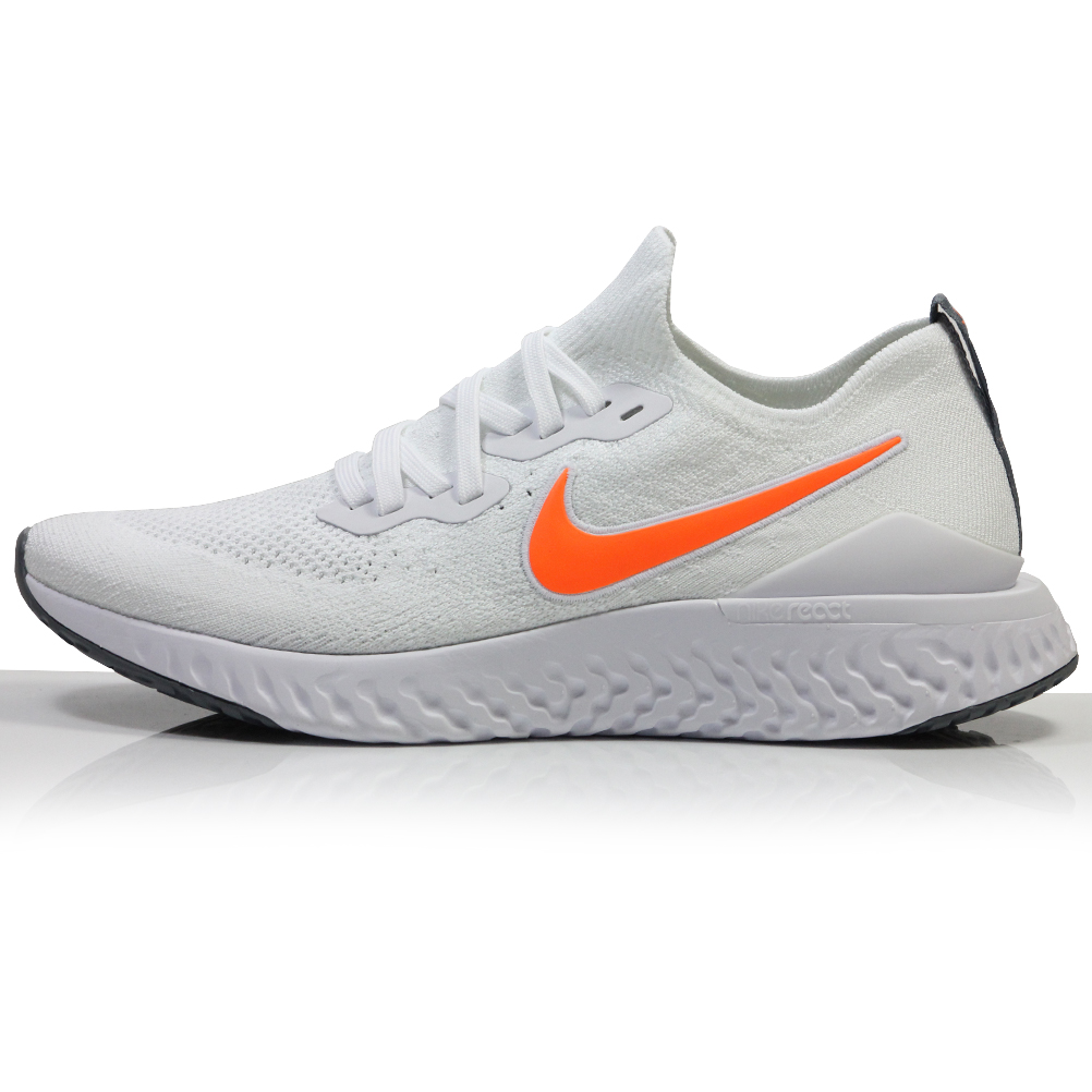 Nike Epic React Flyknit 2 Men's Running Shoe WhiteTotal Orange