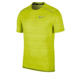Nike Miler Short Sleeve Men's bright cactus front