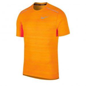 Nike Miler Short Sleeve Men's orange peel front