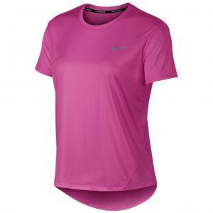 Nike Miler Short Sleeve Women's fuchsia front