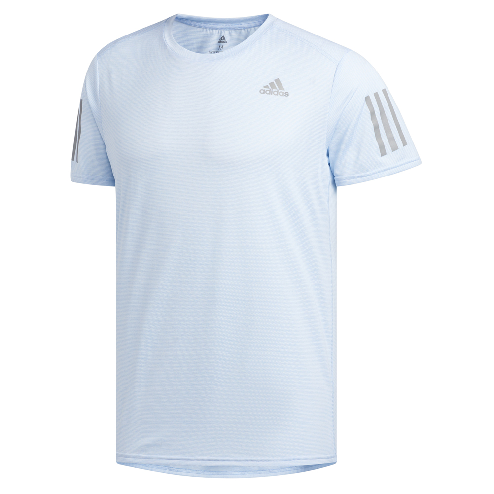 5e9ebf35 adidas Response Men's Short Sleeve Running Tee - Glow Blue | The ...
