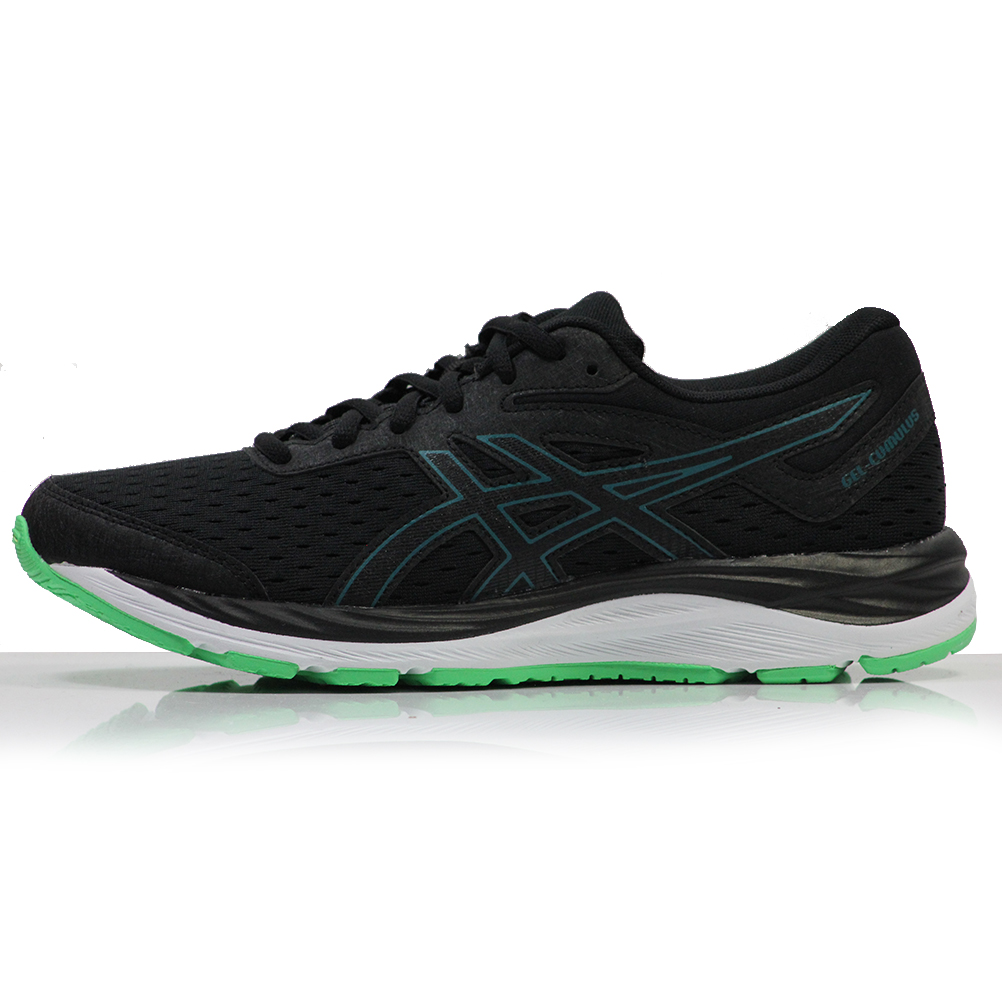 acheter populaire 74d3a b3ff8 Asics Gel Cumulus 20 Junior Running Shoe - Black/Beryl Green