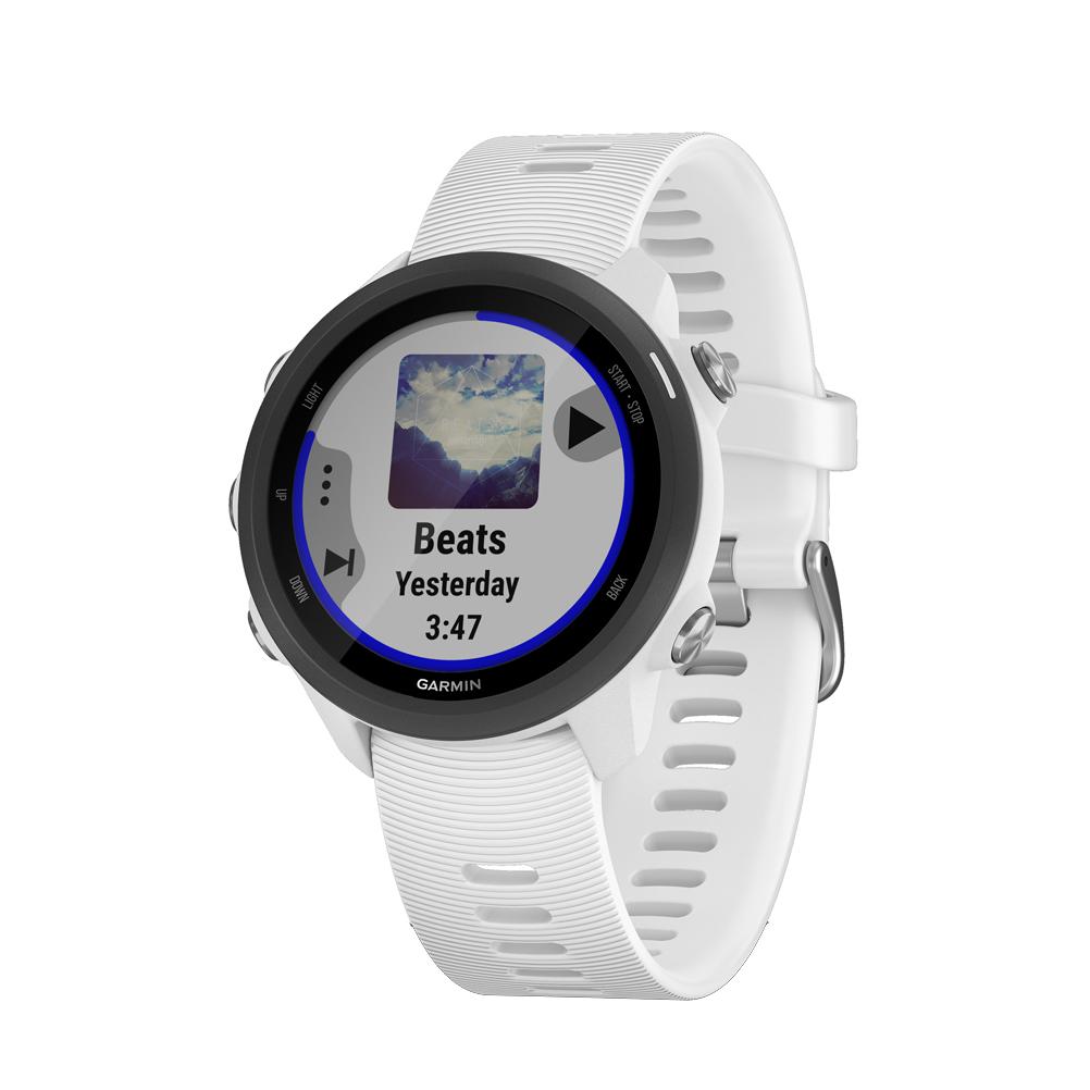 28b6308d54b Garmin Forerunner 245 Music HRM Running Watch - White